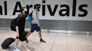 Passengers arriving at Heathrow