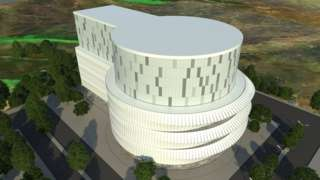 Artist design for exterior of building