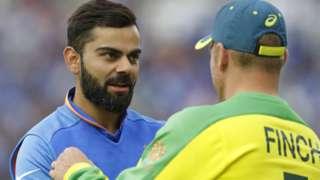 India captain Virat Kohli and Australia limited-overs skipper Aaron Finch