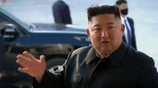 지난해 5월 2일 북한 조선중앙TV가 김정은 국무위원장의 순천린 비료공장 준공식 시찰 영상을 내보냈다.