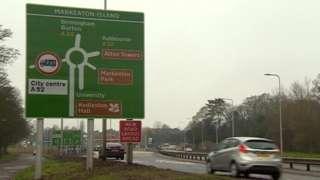 Markeaton roundabout
