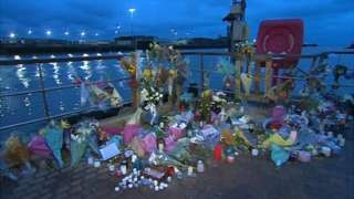 Tributes in Seaford