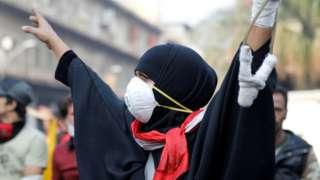female protester Baghdad