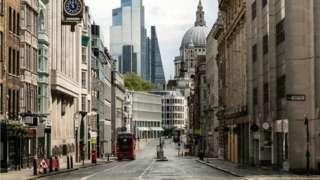 Empty Fleet Street during the pandemic