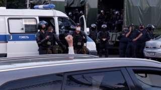 Сотрудники белорусской милиции в Гомеле