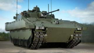 A prototype image of the Ajax Armoured Vehicle