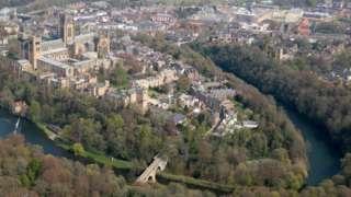 Aerial view of Durham