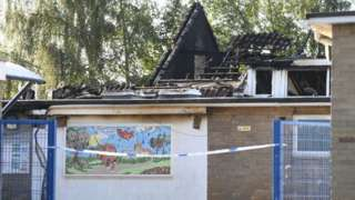 Aftermath, fire at Duxford primary school