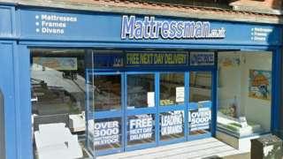 Mattressman shop in Ipswich