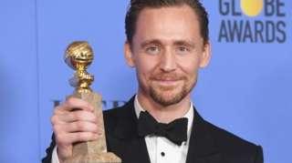 Tom Hiddleston at the Golden Globes