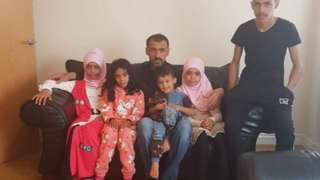 Abed Alkhalaf and his family