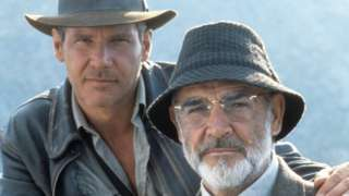 Harrison Ford and Sir Sean Connery