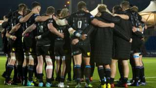 Glasgow Warriors huddle