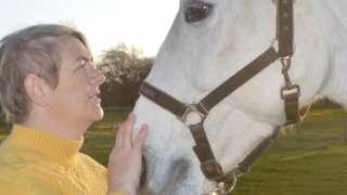 Kelly Ann Alexander with her horse Aliyana