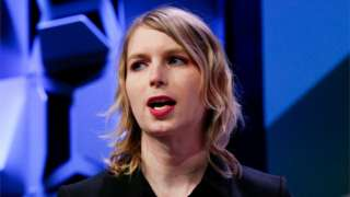 Chelsea Manning speaks at the South by Southwest festival in Austin, Texas, U.S., March 13, 2018