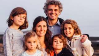 Kaarina Rutta with her family