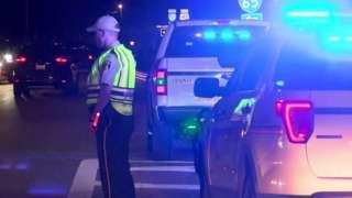 Policeman at the scene