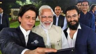 शाहरूख खान, नरेंद्र मोदी, आमीर खान