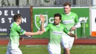 Guernsey FC celebrate a goal