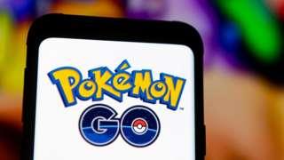 Pokemon Go logo on phone