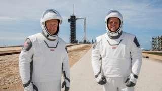 Doug Hurley (L) and Bob Behnken