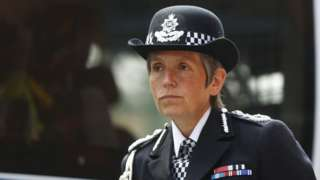 Cressida Dick, the Metropolitan Police Commissioner, attends an event to mark the anniversary of the attack on London Bridge,