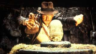 Harrison Ford as Indiana Jones in the first of the series, Raiders of the Lost Ark, in 1981