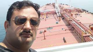 Captain Joginder Singh onboard the Gulf Sky