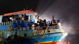 Thousands of migrants attempt to cross the Mediterranean from north African countries to Europe every year (file photo)