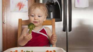 File photo of baby holding broccoli
