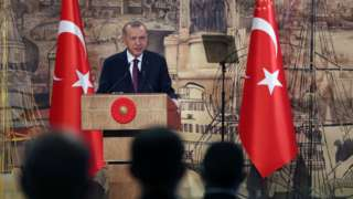 President Erdogan addressing reporters on August 21 2020