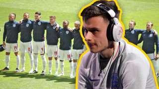 Tom Leese over England men's football squad.