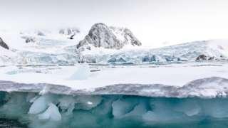 Glacier ice in Arctic Svalbard