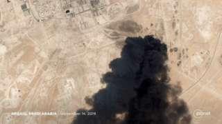 Satellite image showing attack on Saudi Aramco facility, 15 September 2019.