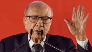 Tunisia's president Beji Caid Essebsi