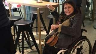 Ann Webster in Starbucks