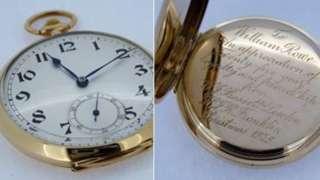 Stolen gold pocket watch