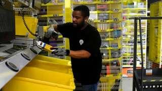 Amazon warehouse worker in Colorado