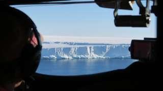 Brunt Ice Shelf front