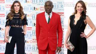 Kym Marsh, Frank Bruno and Kate Ford