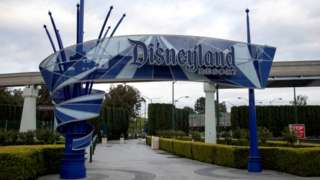 Disneyland and California Adventure theme park in Southern California, closed due to the global outbreak of coronavirus, 14 March 2020