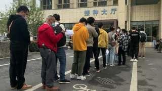 filas em Yiwu