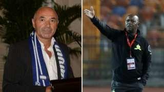 Zamalek coach Jaime Pacheco and Al Ahly boss Pitso Mosimane
