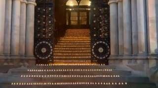 Candles at City Hall