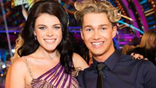 Lauren Steadman (left) and dancing partner AJ Pritchard