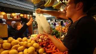 Market stall worker