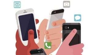 Ilustração de celulares