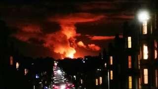 Flaring seen from Edinburgh