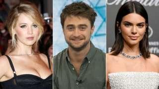 Jennifer Lawrence, Daniel Radcliffe and Kendall Jenner