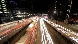 Footage of Bristol city centre traffic